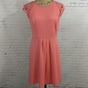 LC Lauren Conrad Lace Midi Shift Dress